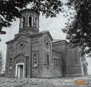 Старое фото недостроенной церкви
